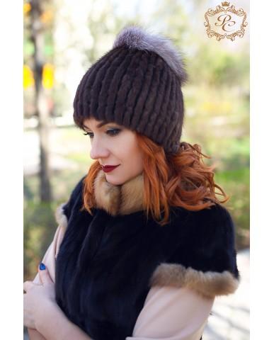 шапочка норка-писец brown