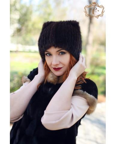 шапочка-киса русская норка